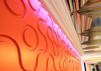 tombola_Orange Room Wall and Ceiling detail