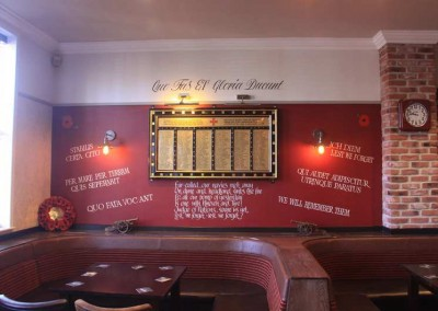 Gunners Club Upper Lounge Feature Wall 15